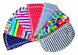 Шапочка для плавания (ткань, цветные)