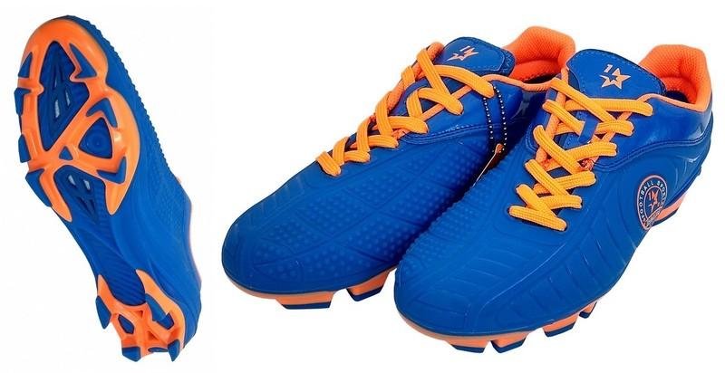 Бутсы футбольные Jiufulong (blue)