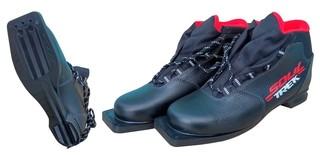 Ботинки лыжные Trek Soul (чёрно-красные)
