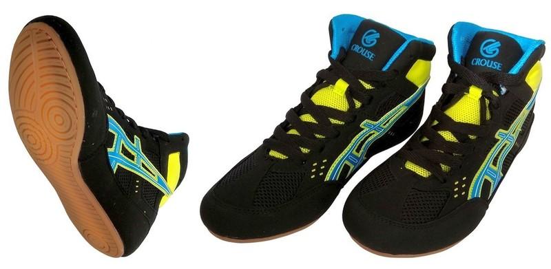 Обувь для борьбы Crouse JY-803-2 (чёрно-синие)