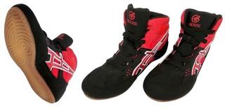 Обувь для борьбы Crouse JY-803-2 (чёрно-красные)