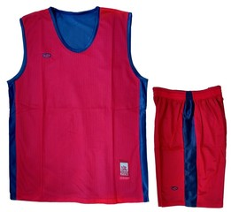 Форма баскетбольная AOQUE двухсторонняя (красная)