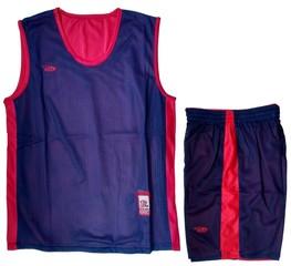 Форма баскетбольная AOQUE двухсторонняя (тёмно-синяя)