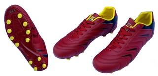 Бутсы футбольные Crouse 15-2 (cherry red)