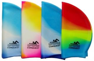 Шапочка для плавания Conquest (цветные)