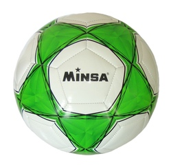 Мяч футбольный Minsa 1010 (green)