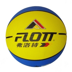 Мяч баскетбольный FLOTT FBA-0072 (жёлто-синий)