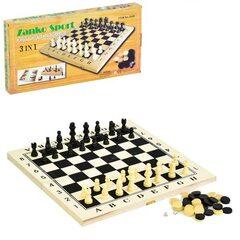 Шахматы 3 в 1 арт. 3417