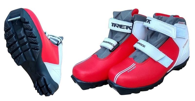 Ботинки лыжные Trek Snowrock (красные)