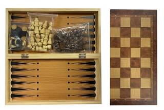 Шахматы  деревянные 3 в 1 (01)